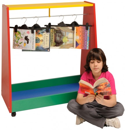 8010  Hanging Book Trolley - Multi-coloured