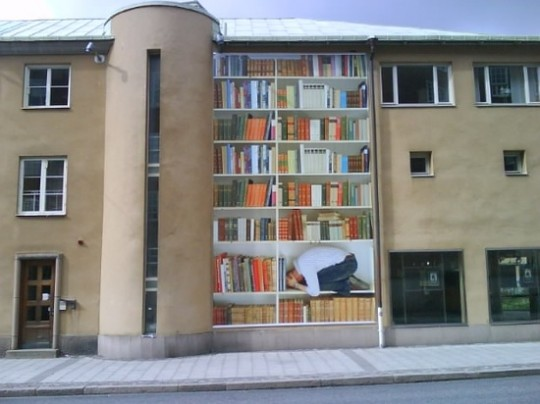 3 Street-Art-Inside-a-Bookshelf-540x404