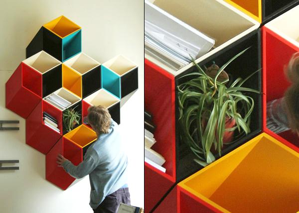 3D bookshelves