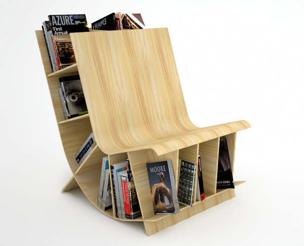 Bookseat book shelf