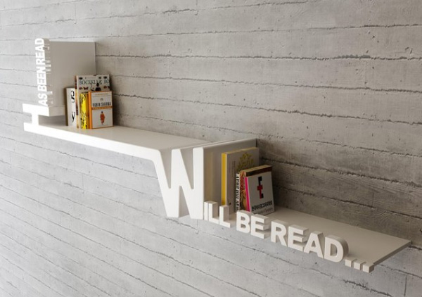 has-been-read book shelf