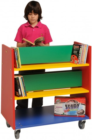 Charlton Book Trolley - Multi-coloured