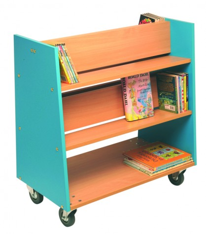Charlton Book Trolley - Lagoon blue