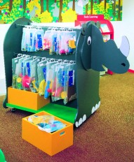 Rhino Toy and Book Storage