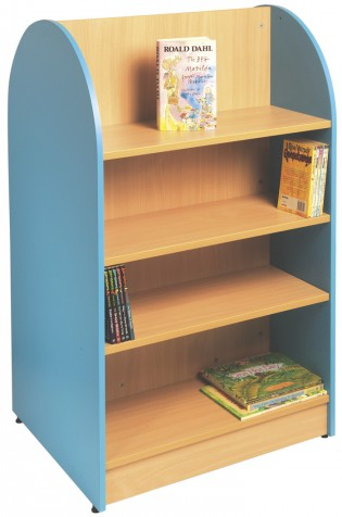 5033 - Tortuga Shelving - Double Sided - Lagoon Blue and Beech