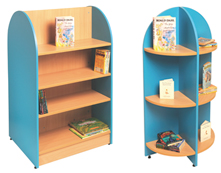 Tortuga library shelving and big book displays